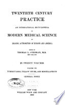 Twentieth Century Practice  Tuberculosis  yellow fever  and miscellaneous  General index