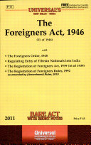 Pdf The Foreigners Act, 1946