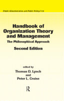 Pdf Handbook of Organization Theory and Management Telecharger