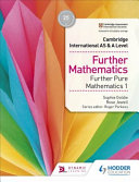 Books - Cam/Ie As & A Lev Pure Maths 1 Sb | ISBN 9781510421783