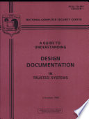 Guide To Understanding Design Documentation In Trusted Systems Book PDF