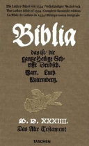 Bible de Luther de 1534  r  impression int  gral