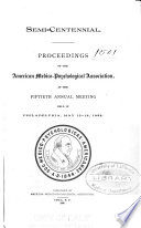 Proceedings Of The American Medico Psychological Association Annual Meeting