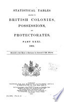 Statistical Tables Relating To British Self Governing Dominions Crown Colonies Possessions And Protectorates