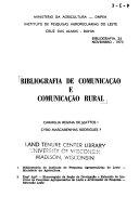 Bibliografia de comunica    o e comunica    o rural