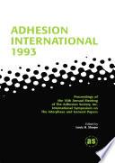 Adhesion International 1993 Book