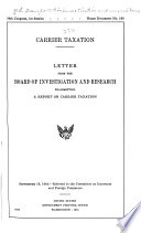 Carrier Taxation