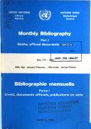 Bibliographie Mensuelle
