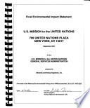 U S  Mission to the United Nations  799 United Nations Plaza  New York  NY 10017