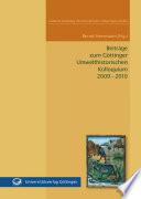 Beiträge zum Göttinger Umwelthistorischen Kolloquium 2009 - 2010
