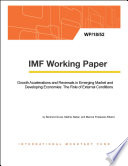 Growth Accelerations and Reversals in Emerging Market and Developing Economies  The Role of External Conditions
