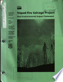 Okanogan and Wenatchee National Forests  N F    Tripod Fire Salvage Project
