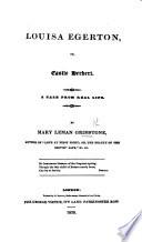 Louisa Egerton  Or  Castle Herbert Book PDF