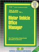 Motor Vehicle Office Manager