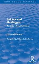 Lukacs and Heidegger