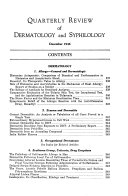 Quarterly Review of Dermatology and Syphilology Book