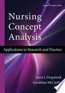 Nursing Concept Analysis Book