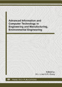 Advanced Information and Computer Technology in Engineering and Manufacturing, Environmental Engineering