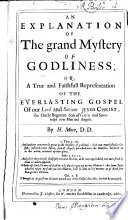 An Explanation of the Grand Mystery of Godliness