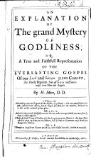 Pdf An Explanation of the Grand Mystery of Godliness