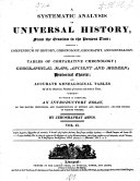 A Systematic Analysis of Universal History from the Creation to the Present Time