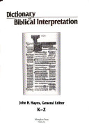 Dictionary of Biblical Interpretation  K Z