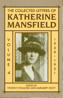 The Collected Letters of Katherine Mansfield  Volume IV  1920 1921