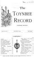The Toynbee Record
