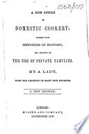 A new system of domestic cookery     A new edition Book