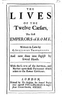 The Lives of the Twelve C  sars  Etc   With a Portrait