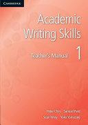Academic Writing Skills 1 Teacher s Manual