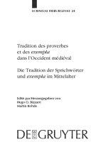 """Tradition der Sprichwörter und """"exempla"""" im Mittelalter"""