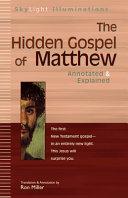 The Hidden Gospel Of Matthew