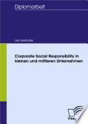 Corporate Social Responsibility in kleinen und mittleren Unternehmen