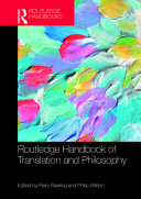 Pdf The Routledge Handbook of Translation and Philosophy Telecharger