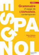Pdf Grammaire d'usage de l'espagnol contemporain Telecharger