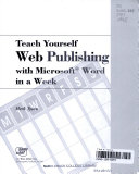 Teach yourself Web publishing with Microsoft Word in a week