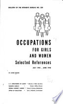 Occupations for Girls and Women
