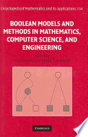 Boolean Models and Methods in Mathematics, Computer Science, and Engineering  , Volume 2