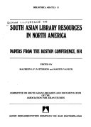 South Asian Library Resources in North America