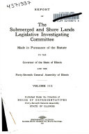 Report of the Submerged and Shore Lands Legislative Investigating Committee