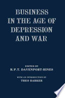 Cover image of Business in the age of depression and war