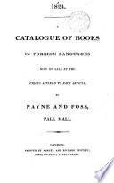 1819 A Catalogue Of Books Now Selling