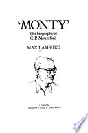 """Monty"": the biography of C. P. Mountford"