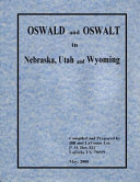 Oswald and Oswalt in Nebraska  Utah and Wyoming