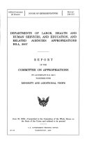 Departments of Labor, Health and Human Services, and Education, and related agencies appropriations bill, 2007