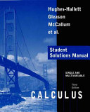 Cover of Calculus, Single and Multivariable, Student Solutions Manual