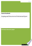Doping and Detection in Professional Sport Book