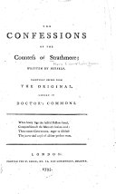 The Confessions of the Countess of Strathmore