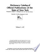 Official Publications of the State of New York